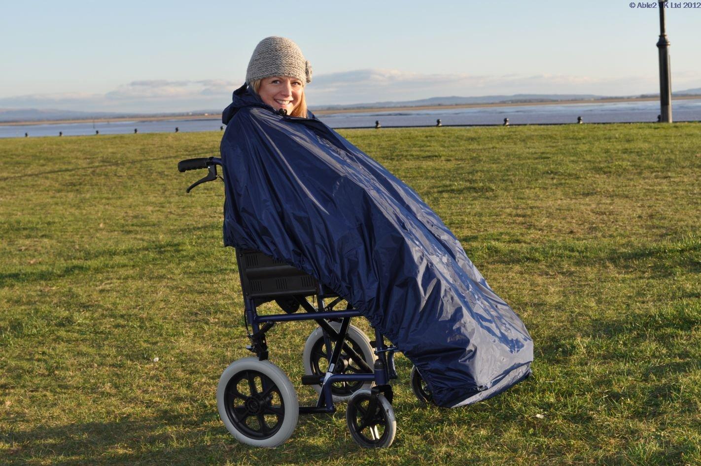 BetterLife - Splash Deluxe Lluvia Capa para silla de ruedas/de interior, sin mangas, forrado: Amazon.es: Salud y cuidado personal