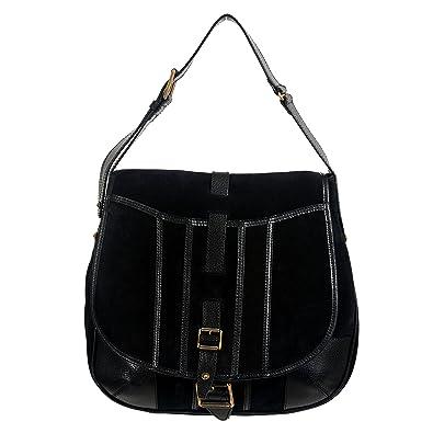 7d174c964b Image Unavailable. Image not available for. Color: Belstaff 100% Leather  Black Adjustable Strap Women's Satchel Shoulder Bag