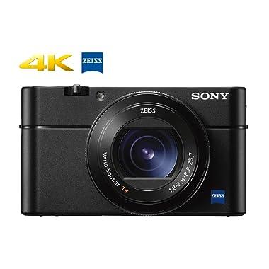 "Sony Cyber-Shot DSC-RX100 V 20.1 MP Digital Still Camera with 3  OLED, flip Screen, WiFi, and 1"" Sensor DSCRX100M5/B"