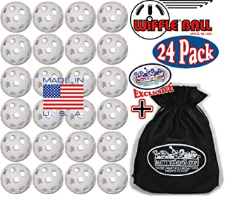 """product image for Wiffle Plastic Practice Golf Balls 24 Pack with Exclusive""""Matty's Toy Stop"""" Storage Bag"""