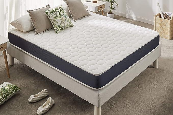 Naturalex | Ergolatex | Colchón 135x190 Cm Calidad Duradera | Adaptabilidad y Confort Equilibrado | Capsulas Refrescantes MemoFeel | Tecnología ...