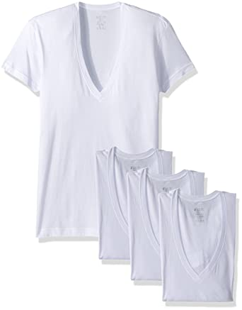 d5dd1a413fbf 2(X)IST Men's Cotton Slim Fit Deep V Neck T-Shirt Multipack at Amazon Men's  Clothing store: