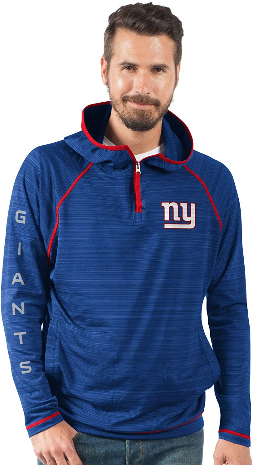 826 Licensed Sports Apparel Giants Football Mens Royal Blue Space Dye Lightweight Pullover Hooded Jacket
