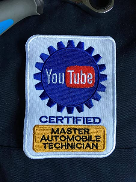 Amazon.com: Youtube CERTIFIED Master Automobile Technician patch ...