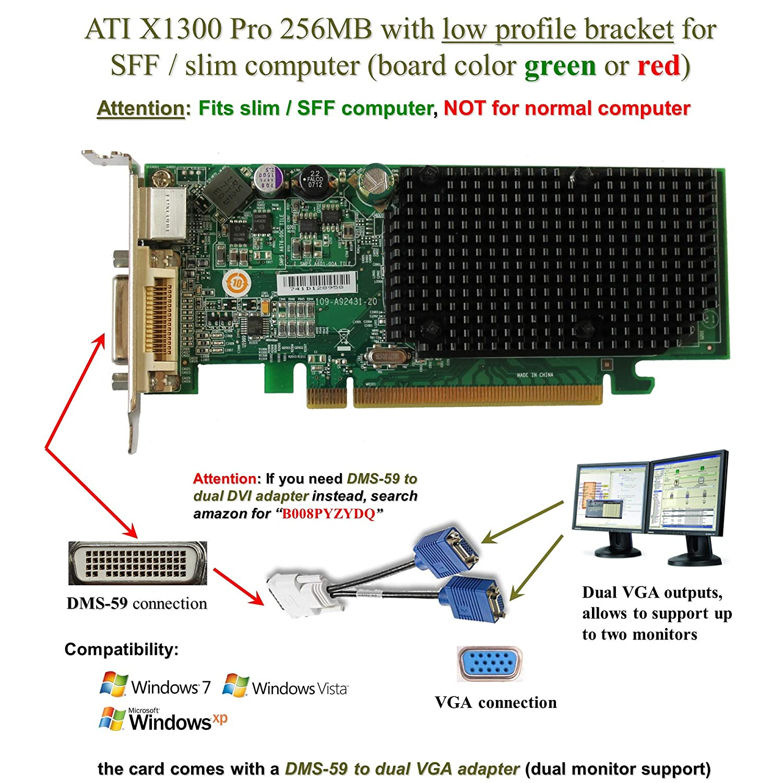 ATI Radeon X1300 256MB PCI-Express Video Card with DMS-59 adapter