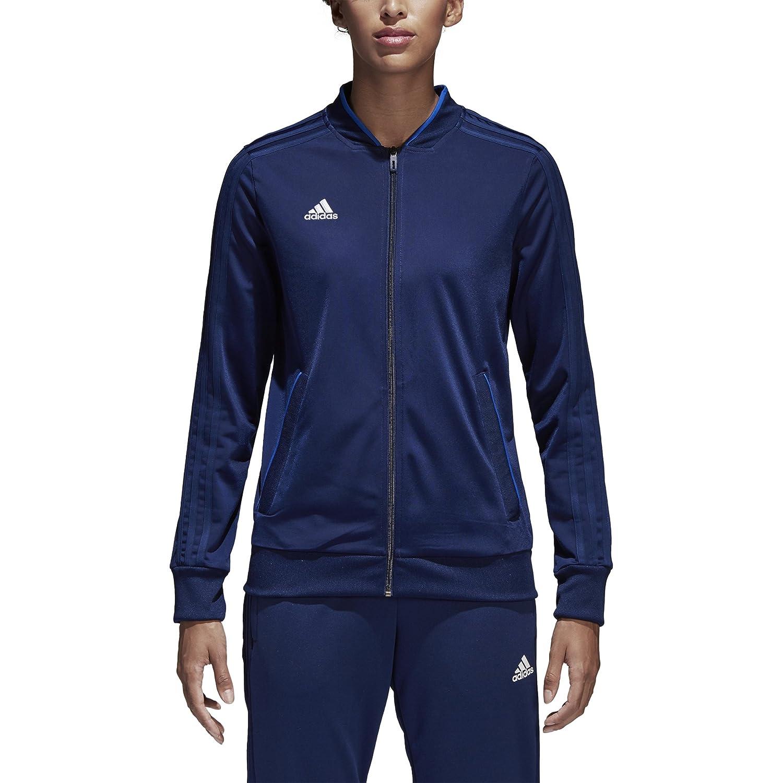 adidas Women's Condivo18 Polyester Jacket, Dark Blue/White, Large CF4329
