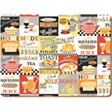 Creative Tops Everyday Home 'Retro Breakfast' Cork-Backed Placemats, multicolour, Set of 4