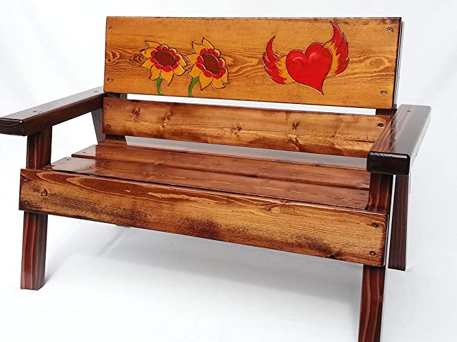 Superb Amazon Com Kids Wooden Outdoor Bench Engraved And Painted Pdpeps Interior Chair Design Pdpepsorg