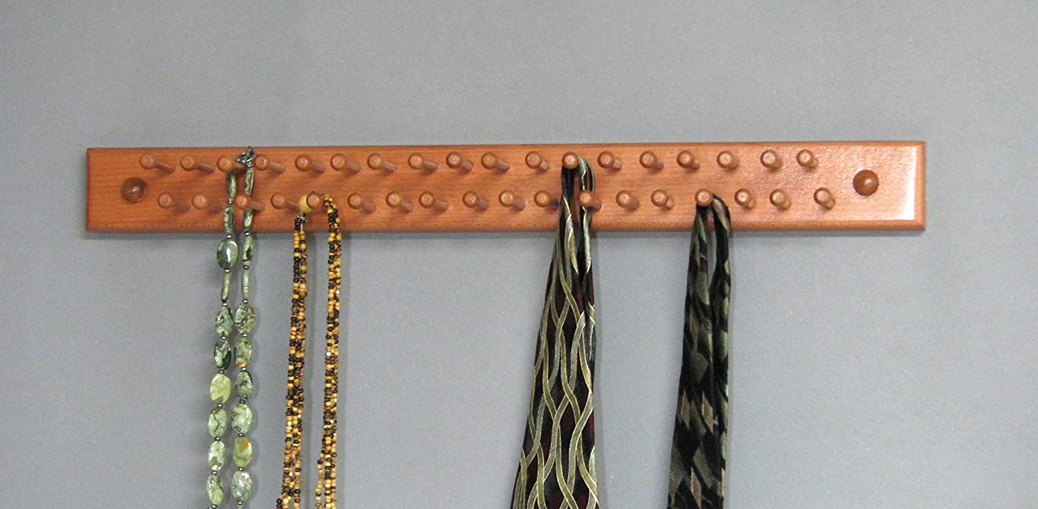 Tie/Necklace Rack, Chocolate Woodform Inc.