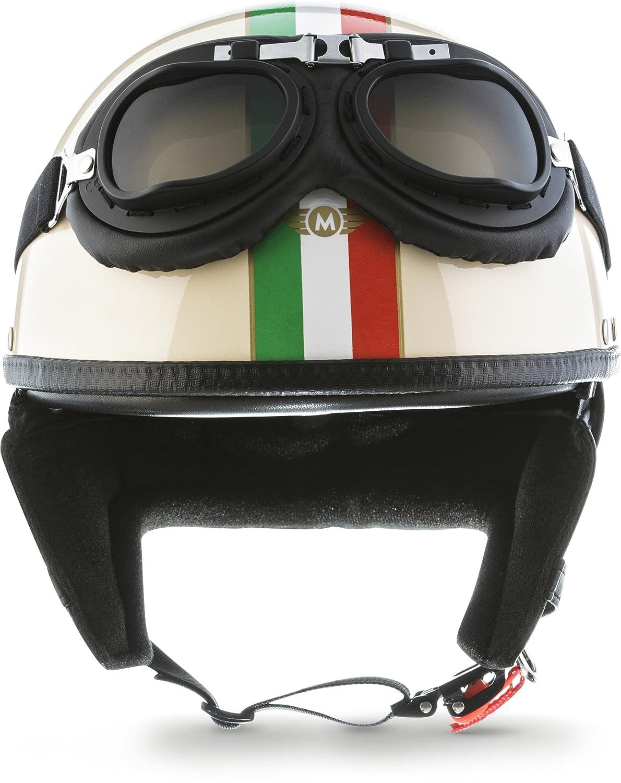 bol avec housse en plastique et lunettes de pilote incluses /Casque de moto Vespa Bobber style vintage Moto Helmets Set D22/