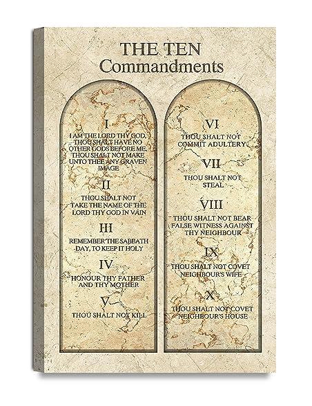 Amazon.com: DecorArts - THE TEN COMMANDMENTS. Giclee Print wall art ...