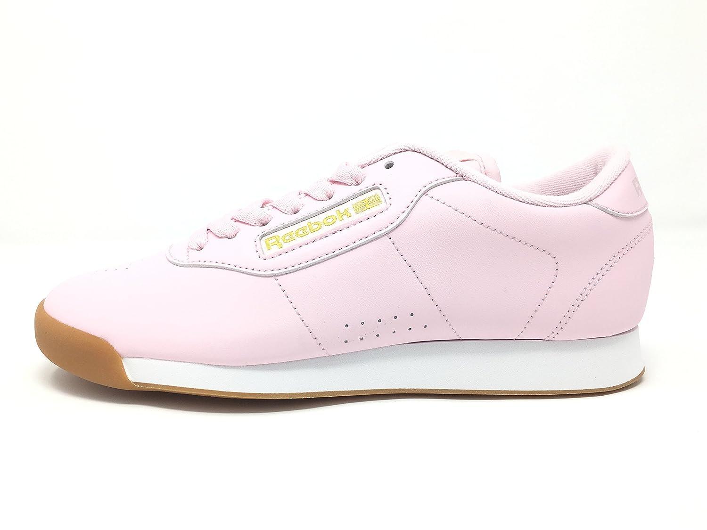 Reebok Women's Princess Sneaker B06XWJF82K 5 M US|Pink/White/Gold Metallic
