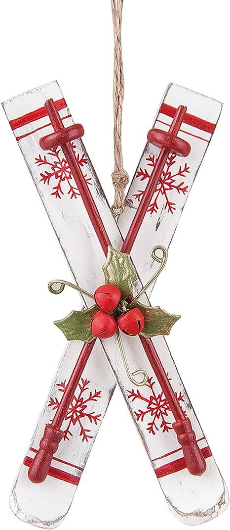 Amazon Com C F Home Nordic Ski Christmas Xmas Ornament White Home Kitchen