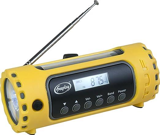 Amazon.com: Freeplay Tuf Solar/Crank AM/FM/WX Radio with LED Flashlight: Home Audio & Theater