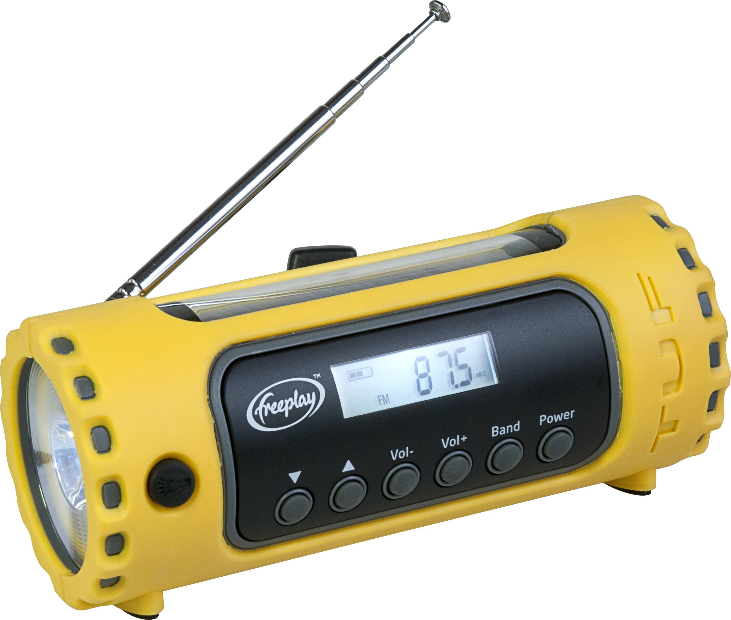 Freeplay Tuf Solar/Crank AM/FM/WX Radio with LED Flashlight by Freeplay