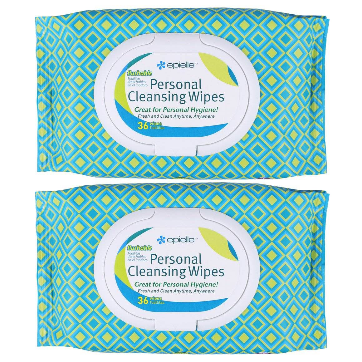 Amazon.com: Epielle Personal Cleansing Wipes-36ct (2 Pack): Health & Personal Care
