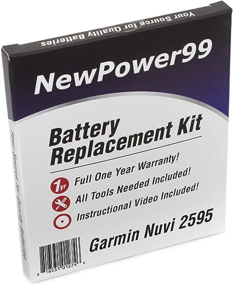 NEW GPS Battery Garmin Nuvi 2595LMT 2555LMT 2495LMT 2475LT 2455LMT 2455LT 1200mA
