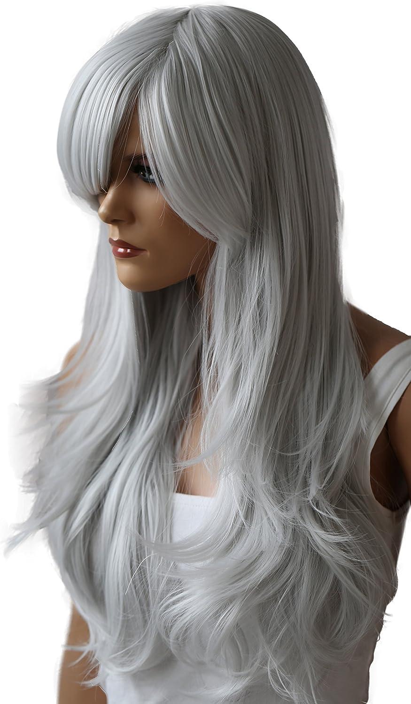 PRETTYSHOP Parrucca da donna Fashion Lunga Hair Ricci ondulati wavy resistente al calore marrone mix # 1T30 WP101