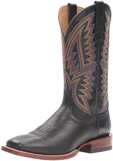 Ariat Men's Hesston Western Cowboy Boot, Midnight Black/Black, ...