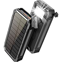 Solar Charger 30000mAh, Solar Power Bank, PD 18W QC 3.0 Quick Charge with 4 Outputs Dual Inputs USB Type C, External…