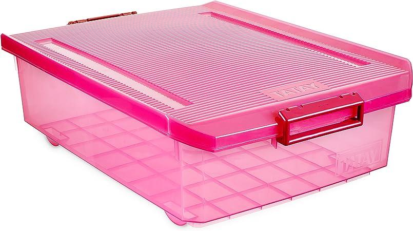 Tatay - Caja de Almacenaje Multiusos Bajo Cama con Tapa y 32 L de Capacidad. Plástico Polipropileno