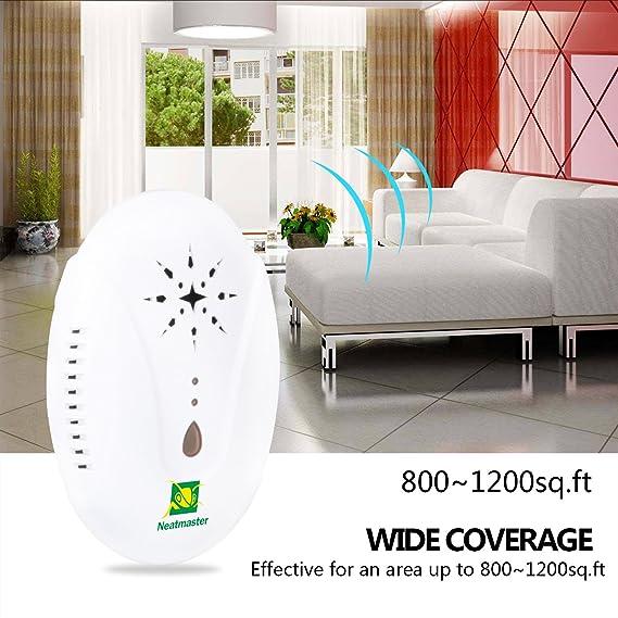 Neatmaster Repelente al Pest Control electrónico de plagas enchufe in-ultrasonic repelente de plagas de insectos - ratones, cucarachas, Bugs, pulgas, ...