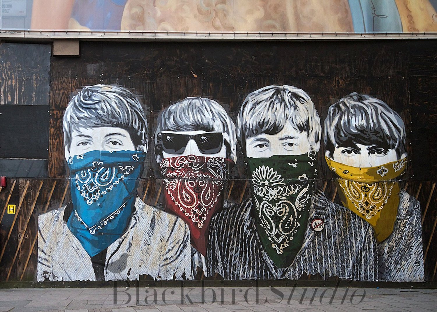 The Beatles Schablone Street Art, London Foto, Limited Edition Print ...