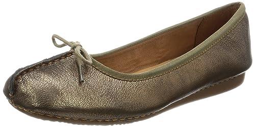 Clarks Freckle Ice, Women's Ballet Flats, Grey (Bronze Leather), 3.5 UK