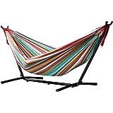 Vivere UHSDO8-26 - Hamaca con soporte incluido, multicolor, 250 cm, doble, diseño Salsa