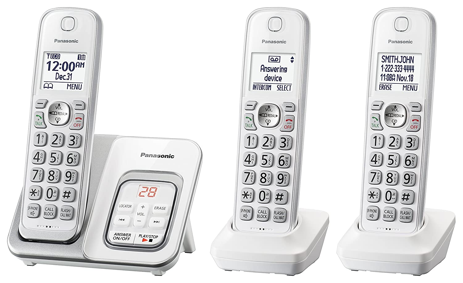 Amazon Panasonic Kx Tgd533w Expandable Cordless Phone With