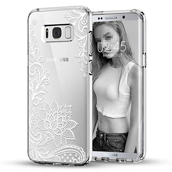 Amazon.com: Wigeo Flower For Galaxy S5 S6 S7 Edge S8 S9 Plus ...
