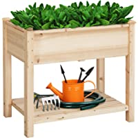YAHEETECH Wooden Raised Elevated Garden Bed Kit w/Legs