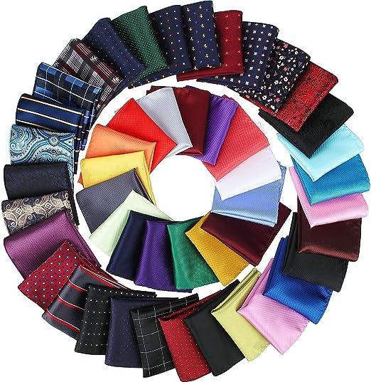 6 Piece Men 4 Patters Handkerchief Pocket Square Polyester Silk Wedding Party