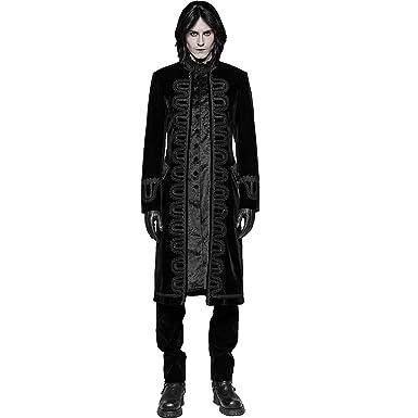 7742ccc918ffb8 Punk Rave Black Gothic Vintage Long Coat Masquerade Party Victorian Jacket  Men (S)