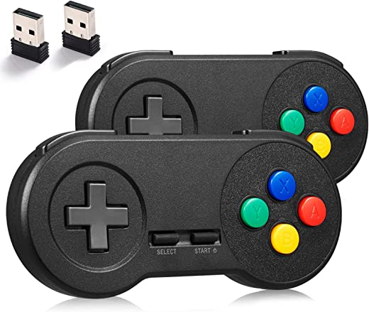 miadore 2Pack 2.4GHZ Wireless SNES Controller for SNES/NES Classic PC...
