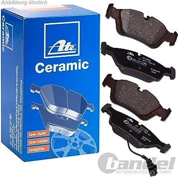 ATE Ceramic Beläge mit Warnkontakt vorne und hinten Volkswagen Audi Seat Skoda