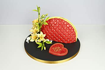 Continuous Quilting Silicone Royal Icing Mold, Ceri Griffiths Creative Cake System for Decorating, Sugarpaste, Fondants and Candies, Food Safe