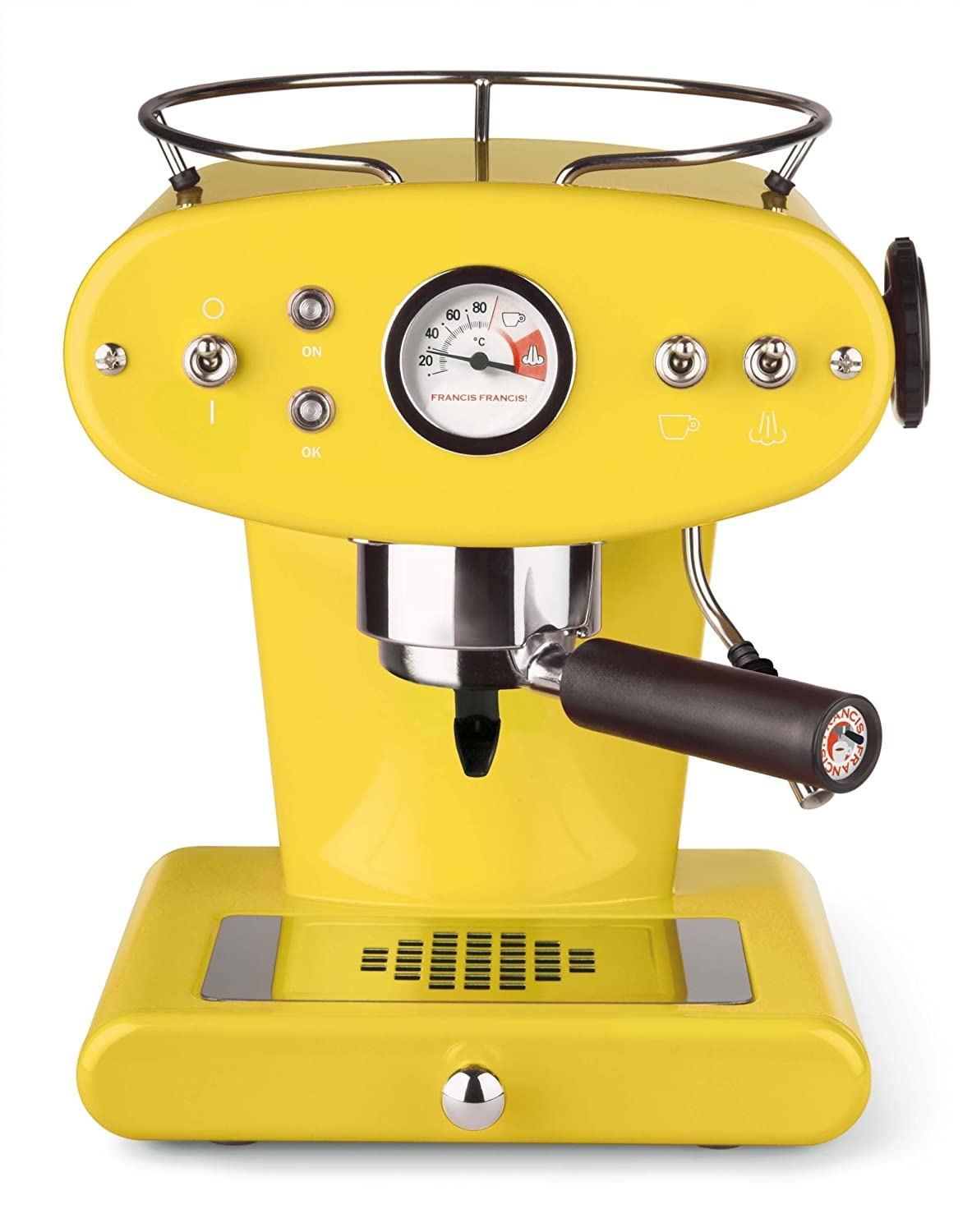 Francis Francis X1 Ground Coffee Machine, Yellow by Francis Francis by illy