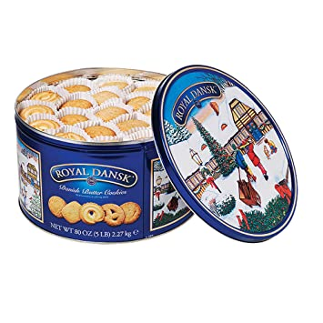 Royal Dansk Danish Butter Cookie Assortment 80 Ounce Pack Of 1