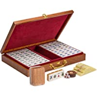 Chinese Mahjong w/Numbered Tiles - Champagne Gold - Standard
