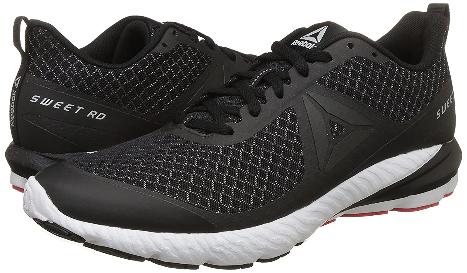 OSR Sweet RD Se, Chaussures de Running Homme, Multicolore-Noir/Anthracite/Blanc/Rouge (Black/Coal/White/Dayglow Red), 45.5 EUReebok