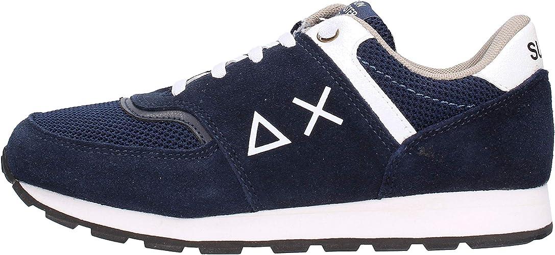 Sun 68 Tom Suede Sneaker Blu da Ragazzo Z29308 G 0701