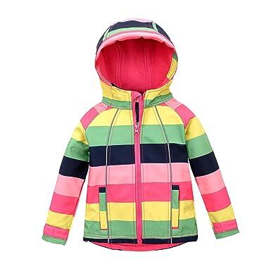 3f998f083fcc Amazon.com  M2C Girls Hooded Fleece Lined Windproof Sweater ...