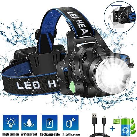 Amazon.com: Linterna frontal, lámpara de cabeza LED ...