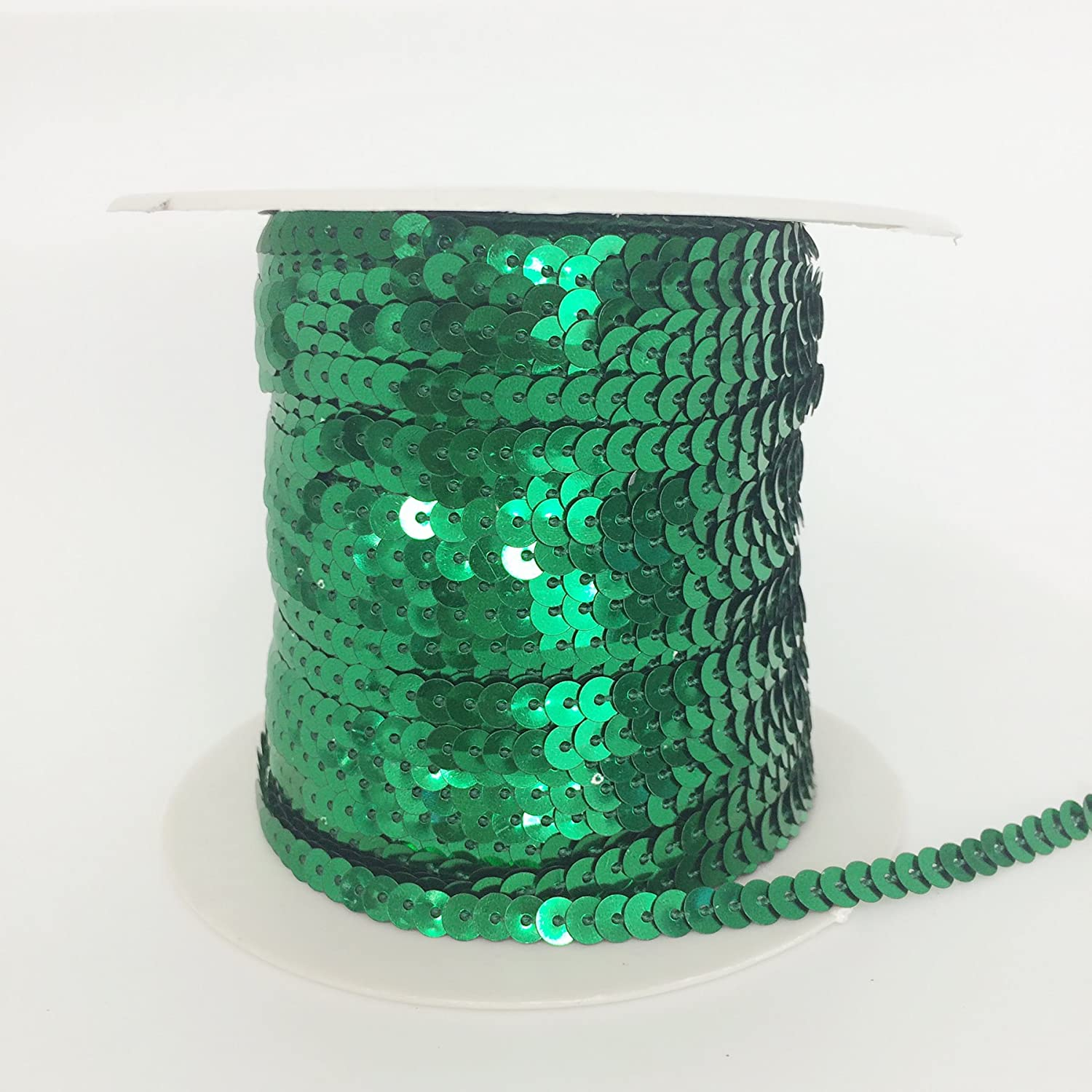 PEPPERLONELY Brand 100 Yard//Roll Metallic Flat Sequin Trim 5mm Apple Green AB 3//16 Inch