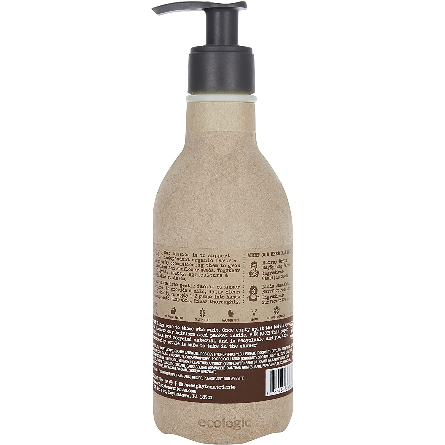 Seed Phytonutrients Gentle Facial Cleanser 8.5 oz