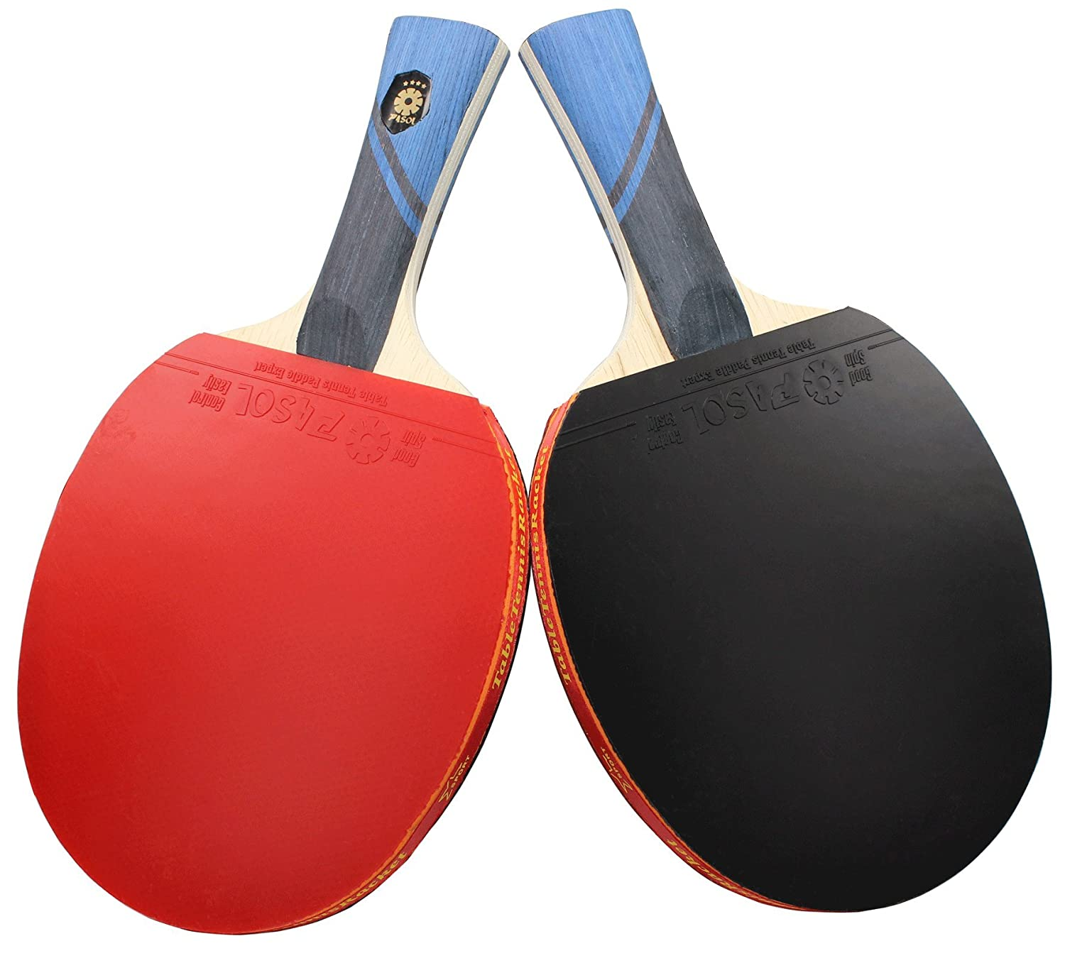 2 Player PASOL 4 Star Advanced Training Ping Pong Paddle Premium Practice Table Tennis Rackets