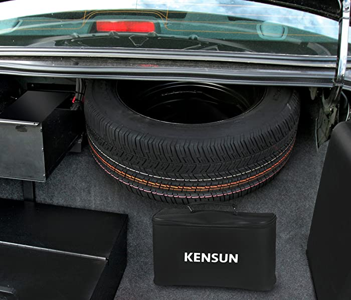 The ideal way of maintaining the appropriate tire pressure is to always have the Kensun AC/DC air compressor in your car