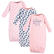 Yoga Sprout Unisex Baby Cotton Gowns, Snuggle Bunny 3-Pack, 0-6 Months
