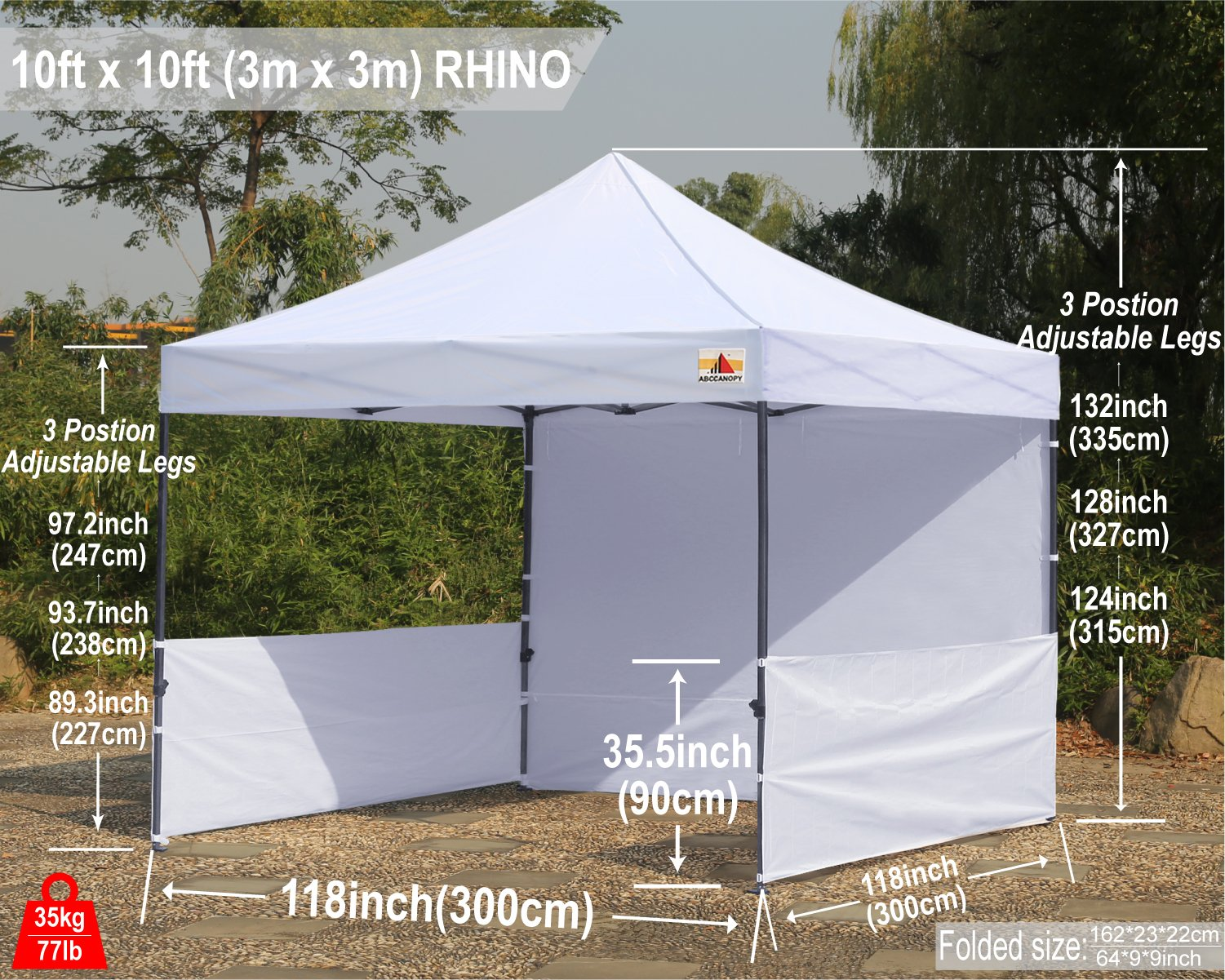 ABCCANOPY 10 x10 Pop Up Canopy Commercial Event Canopy Market Stall Canopy Booth Outdoor Trade Show Booth With Wheeled Carry Bags by abccanopy (Image #9)